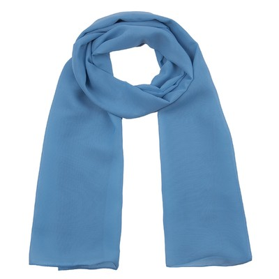 Шарф текстильный 559 S_9, цвет синий, размер 50х160