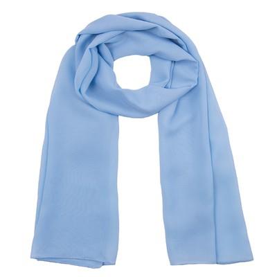 Шарф текстильный 559 S_43, цвет голубой, размер 50х160