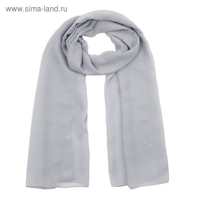 Шарф текстильный 559 S_B26, цвет серый, размер 50х160