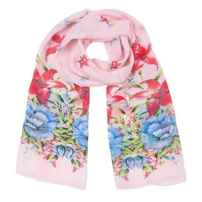 Шарф текстильный  S 1641_53-2, цвет розовый, размер 50x160