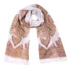 Шарф текстильный 559_2-11, цвет белый, размер 50х160