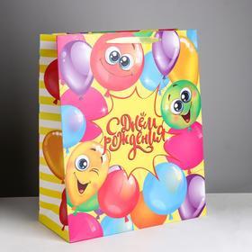 Пакет ламинированный вертикальный «С днём Рождения!», XL 40 × 49 × 19 см