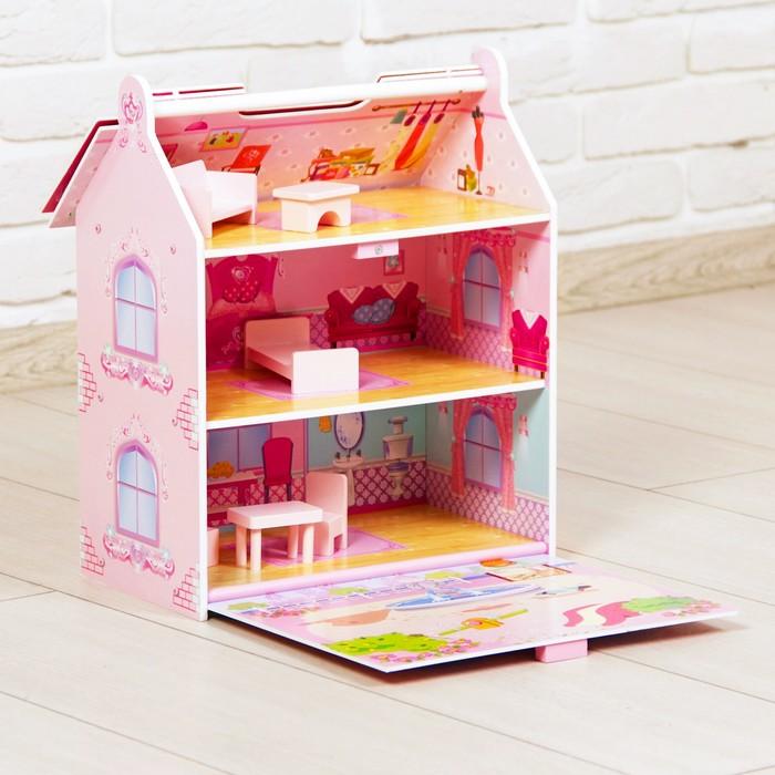 """Кукольный дом """"Принцесса"""", с откидной крышей, с мебелью"""