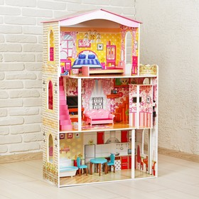 """A doll's house """"Bright interior"""" with the furniture"""