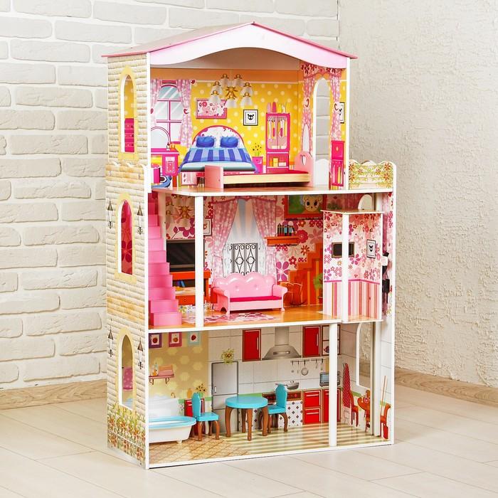 Кукольный дом «Яркий интерьер», с мебелью