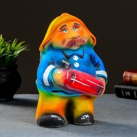 "Копилка ""Пожарник"" 27х15см"