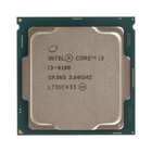 Процессор Intel Original Core i3 8100 Soc-1151v2, 3.6GHz/Intel UHD Graphics 630 OEM