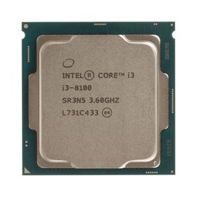 Процессор Intel Core i3 8100 Original, LGA1151v2, 4x3.6ГГц, UHD 630, TDP 65Вт, OEM