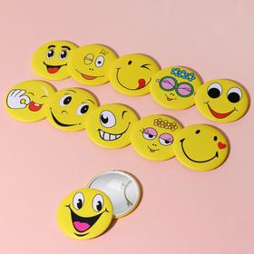 """Mirror compact """"Smile"""", single sided, no magnification, MIX color"""