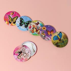 Зеркало «Цветы и бабочки», МИКС Ош