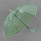 Зонт полуавтоматический «Полоска», R = 46 см, цвет зелёный