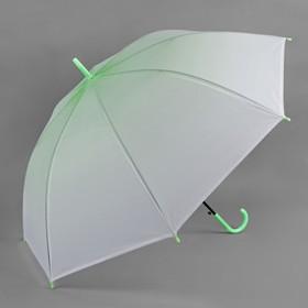 Зонт полуавтоматический 'Градиент', трость, R=46см, цвет зелёный Ош