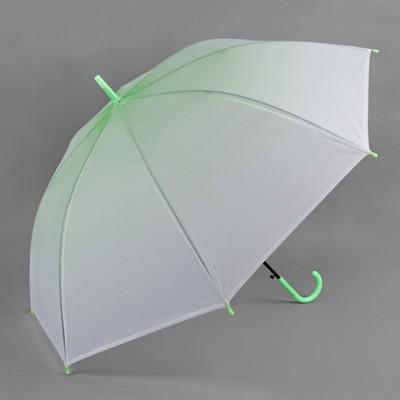 """Зонт -трость """"Градиент"""", полуавтоматический, R=46см, цвет зелёный"""