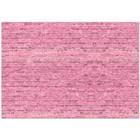 Фотофон «Розовые кирпичики», 70 х 100 см, бумага, 130 г/м