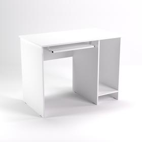 Стол компьютерный нишей СК11.6, 1100х600х750 мм, белый шагр