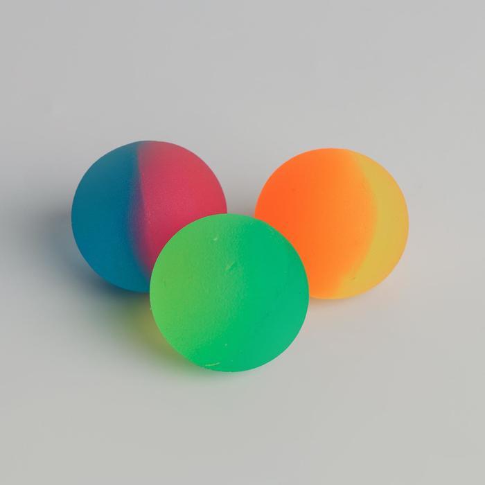 Мяч каучук «Перелив», 4,3 см, цвета МИКС