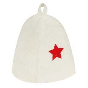 Шапка банная со звездой, белая Ош
