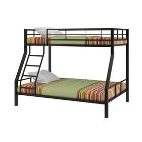 Двухъярусная кровать «Гранада 1», 1980 х 1260 х 1620 мм, цвет чёрный