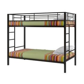 Двухъярусная кровать «Севилья», 1980 х 960 х 1960 мм, цвет чёрный