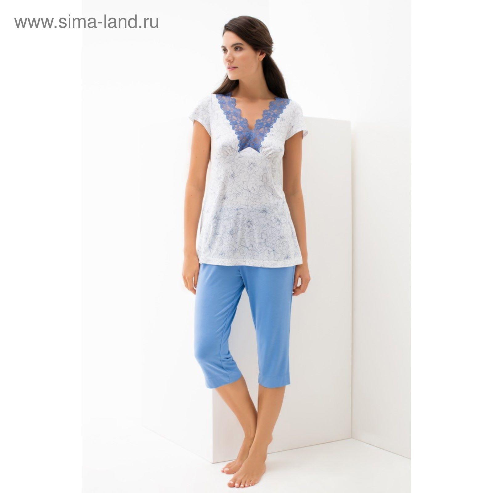 df6daa66ec23 Комплект (туника+бриджи) женский, размер 2XL (52), цвет белый 56223 ...