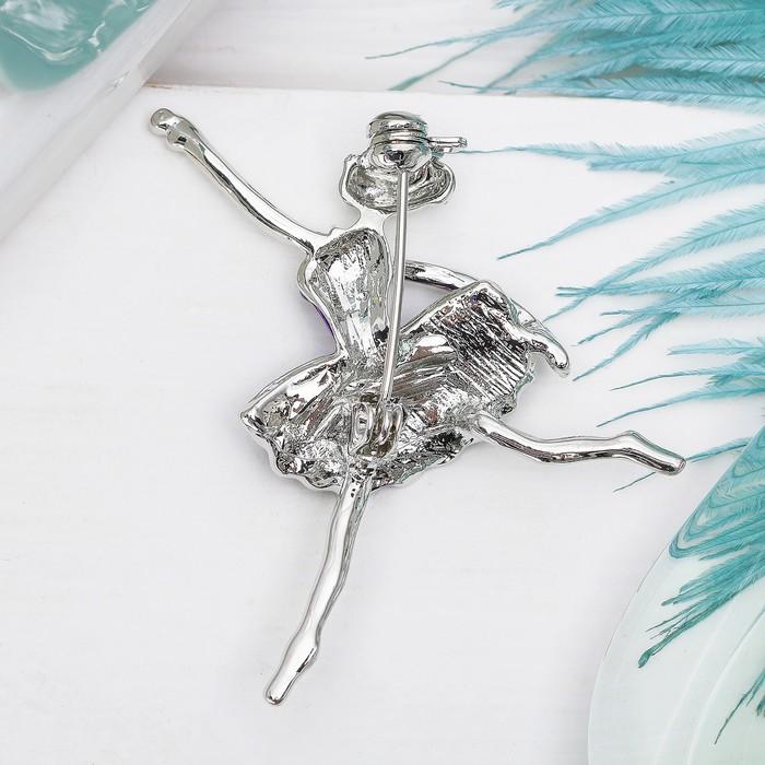 """Брошь """"Балерина"""" в танце, цвет фиолетовый в серебре - фото 301002339"""