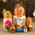 Матрёшка «Ангел с голубем»,  5 кукольная, 10,5 см