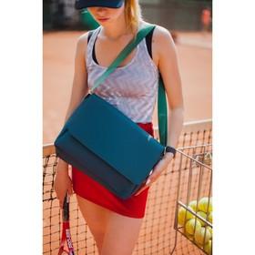 Bag, Department, zippered outer pocket, adjustable strap, color dark blue