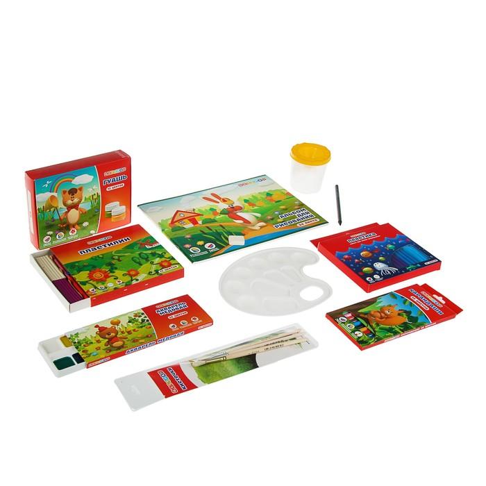 Набор для творчества ЗКХ Цветик (рисование и лепка) 11 предметов 7241160