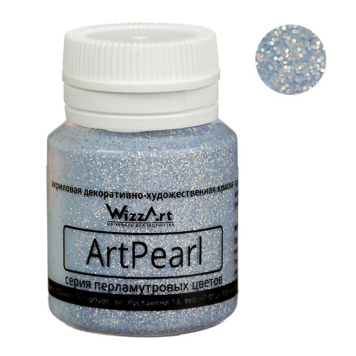 Краска акриловая Pearl 20 мл WizzArt Голографический серебро перламутровый WR19.20