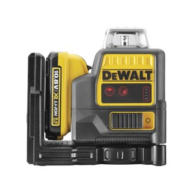 Нивелир лазерный DeWalt DCE0811D1R, аккум., 2 луча,  50/20м, 0.3 мм/м, кейс
