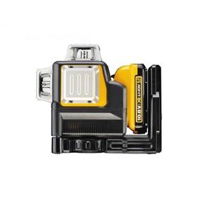 Нивелир лазерный DeWalt DCE089D1R, аккум., 3 луча,  50/20 м, 3 мм/м, ±4°, кейс