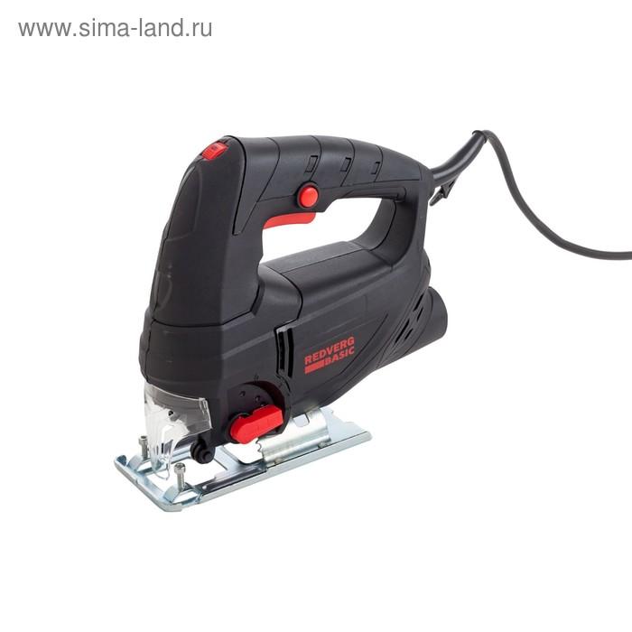 Лобзик RedVerg JS600 Basic, маятник, 600 Вт, 3000 ход/мин, 1.5 м, дерево/металл 50/4 мм