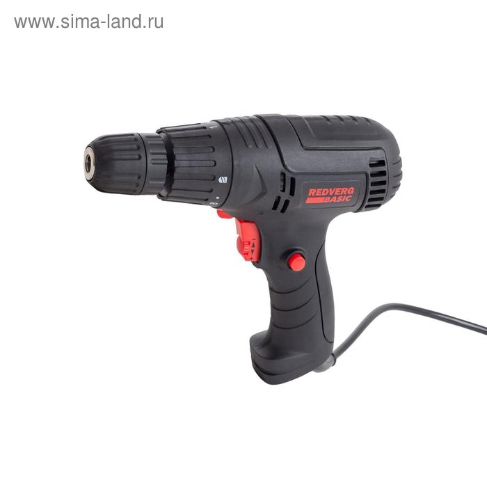Шуруповерт электрический RedVerg Basic SD300, 300 Вт, 1350 об/мин, реверс, БЗП 10мм, 18 Нм
