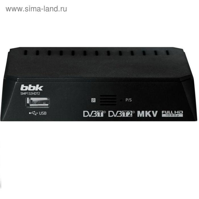 Цифровая ТВ приставка BBK SMP132HDT2 DVB-T2 темно-серый