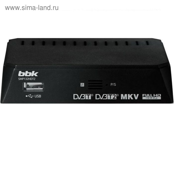 Цифровая ТВ приставка BBK SMP132HDT2 DVB-T2 черный