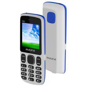 Сотовый телефон Maxvi C22 White Blue Ош