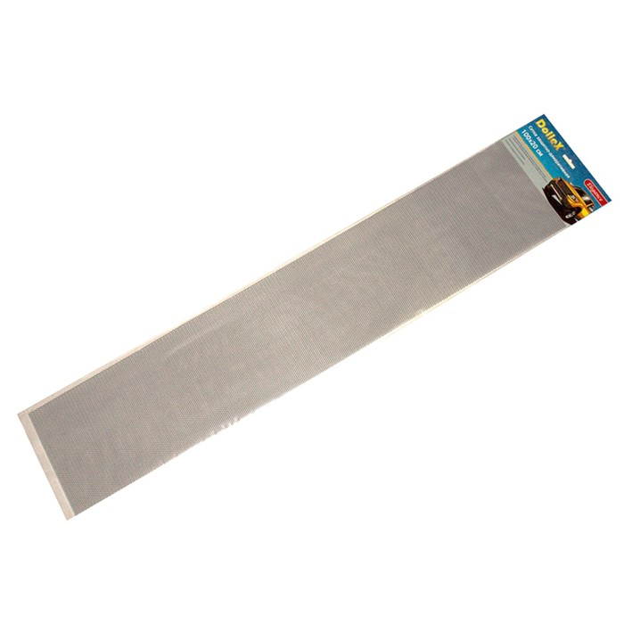 Сетка защитно-декоративная Dollex, алюминий, 100х20 см, ячейки 6х3,5 мм, серебро