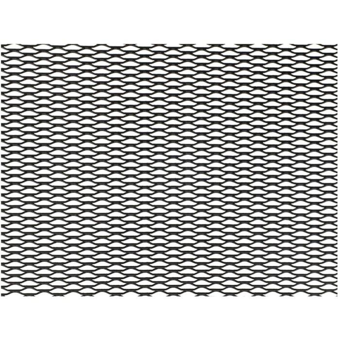 Сетка защитно-декоративная Dollex, алюминий, 100х20 см, ячейки 15х4,5 мм, черная