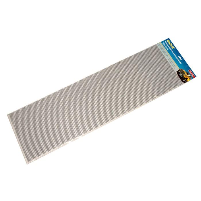 Сетка защитно-декоративная Dollex, алюминий, 100х30 см, ячейки 20х6 мм, серебро