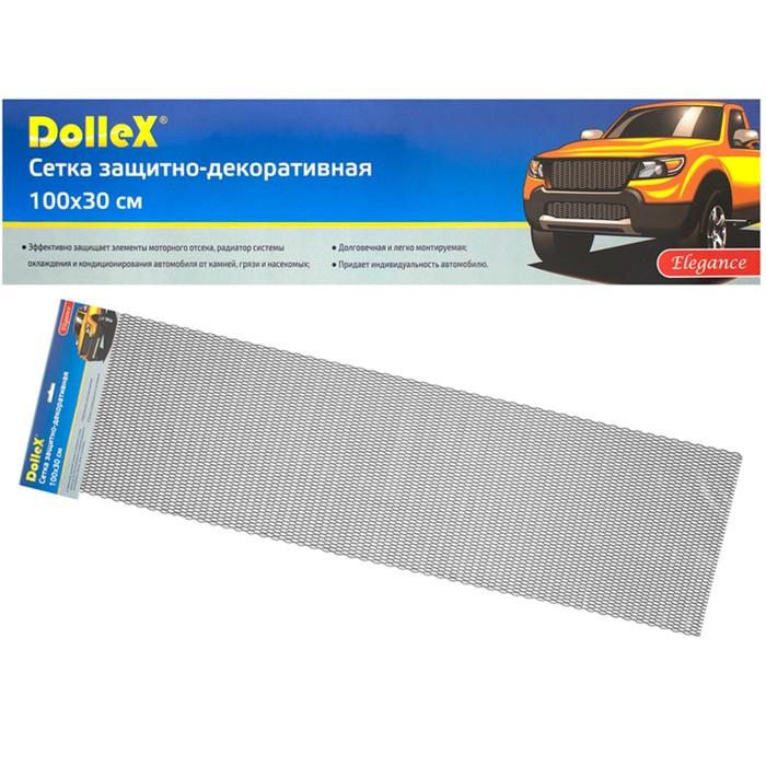 Сетка защитно-декоративная Dollex, алюминий, 100х30 см, ячейки 20х6 мм, черная