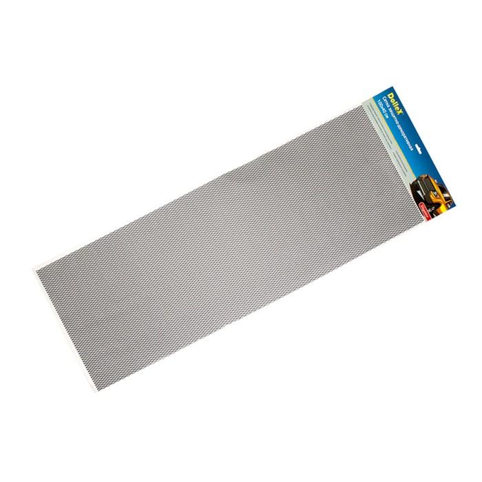Сетка защитно-декоративная Dollex, алюминий, 100х40 см, ячейки 15х6,5 мм, черная