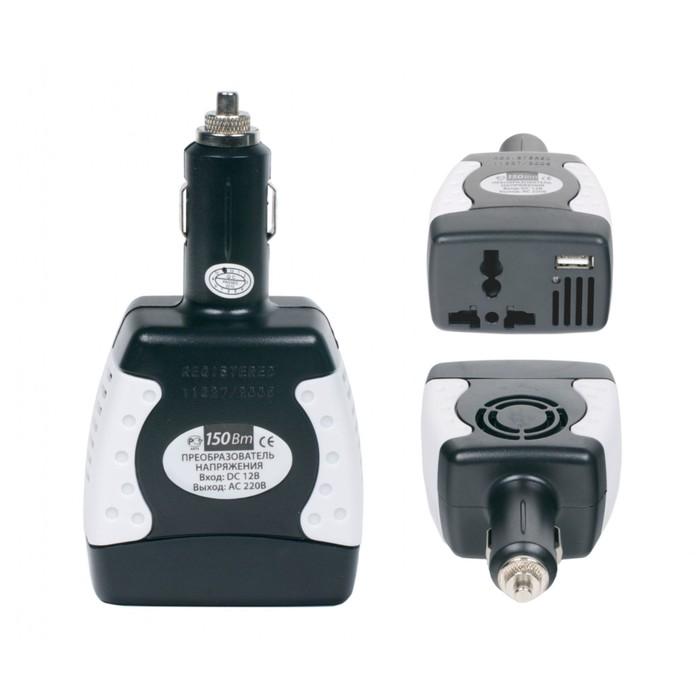 Преобразователь напряжения, с USB-портом, 180 Вт 12 В DC -> 220 В AC
