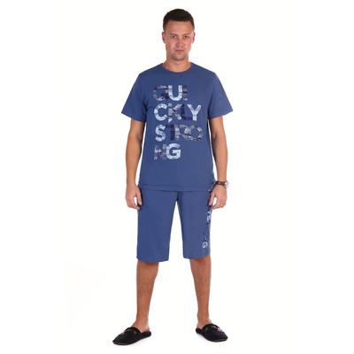 Комплект мужской (футболка, шорты) Джек цвет индиго, р-р 58