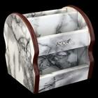 Органайзер, под серый мрамор, вращающийся, 6 секций 14*12,5 см