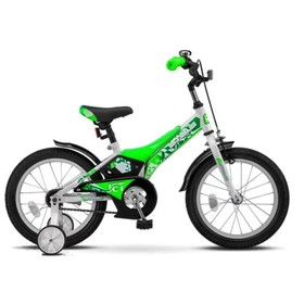 """Велосипед 16"""" Stels Jet, Z010, цвет белый/салатовый"""