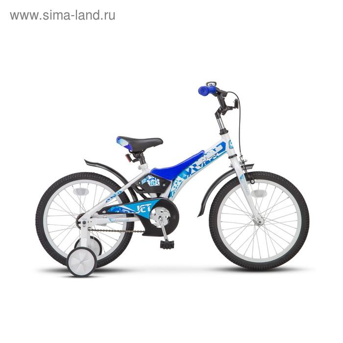 """Велосипед 18"""" Stels Jet, Z010, цвет белый/синий"""