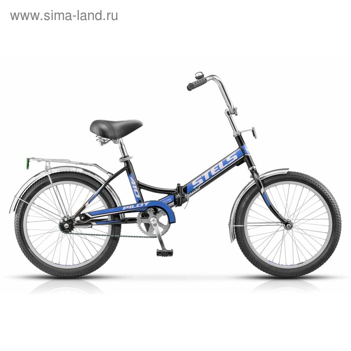 """Велосипед 20"""" Stels Pilot-410, Z011, цвет чёрный/синий, размер 13,5"""""""