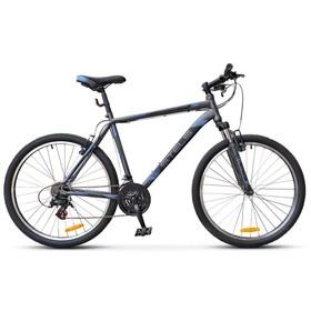 """Велосипед 26"""" Stels Navigator-500 V, V020, цвет антрацитовый/синий, размер 20"""""""