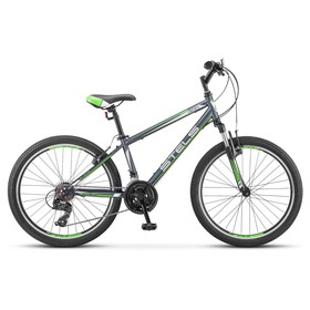 "Велосипед 24"" Stels Navigator-400 V, V030, цвет серый/зелёный/белый, размер 14"""