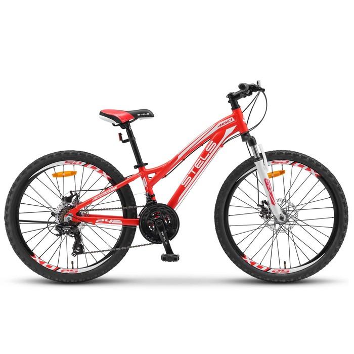 "Велосипед 24"" Stels Navigator-460 MD, V021, цвет красный, размер 11"""